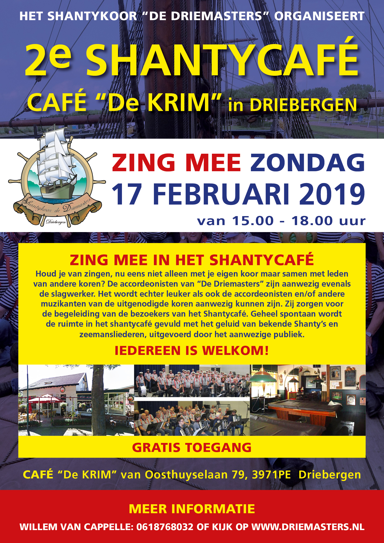 Poster 2e Shantycafe 17-02-2019